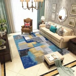 Nordic salon table basse encre abstraite tapis simple moderne nouvelle chambre étude chambre chevet couverture