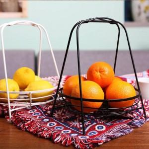 Panier de fruits créatif nordique de salon en acier inoxydable bol de fruits accueil panier de fruits minimaliste moderne panier de stockage de bureau