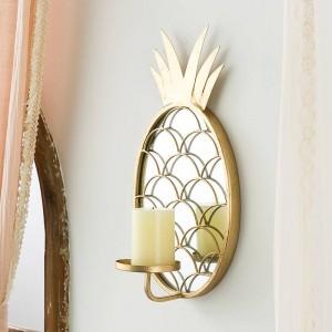 Miroir en verre décoratif nordique de luxe décoration décoration ananas tenture chandelier