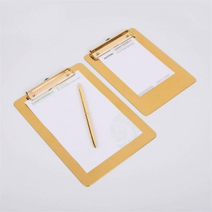 Nordic Metal Gold Office Plateau De Rangement De Table avec Clip Scandinave Vogue Office Fichier Note Pad De Rangement De Bureau Organisateur Décor