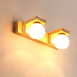 Miroir nordique Phare Simple Moderne Étanche En Verre Hanglamp Bois LED Applique Murale Salle De Bains Lumière Toilette Suspendus Luminaires
