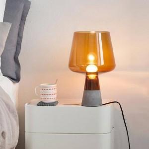 Poste nordique moderne bureau lampe créative table en ciment lampe lampe de lecture E27 lampe LED étude salon maison art décoration