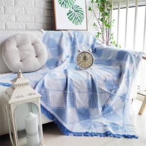 Couverture géométrique romantique nordique de jet de couverture de housse de canapé coloré Cobertor de canapé / de lits à carreaux de couvertures de couture antidérapantes