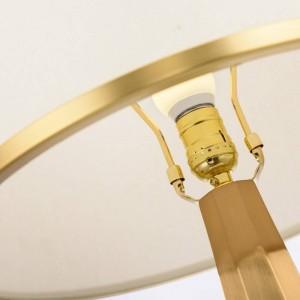 Nordique étude LED lampe de table post moderne américain marbre créatif salon chambre chevet en tissu art LED E27 ampoule lampe de bureau