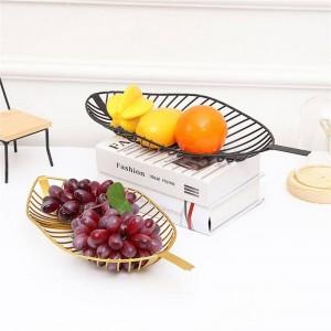 Nordic Style Plateau En Fer Feuille En Forme De Fruit Panier Simple Bonbons Snack Panier De Rangement Cuisine Salon Table De Fruit Assiette Décor