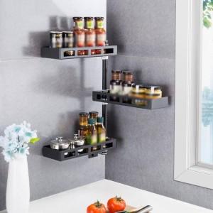 Organisateur égouttoir réfrigérateur égouttoir en acier inoxydable Rotate Cuisine Cozinha organisateur de cuisine support de cuisine