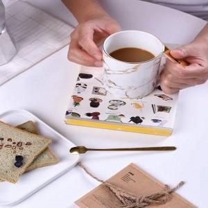 Tasse de personnalité tasses à café Tasse de lait et cuillère en os tasse à eau tasse à thé en porcelaine britannique heure du thé l'après-midi