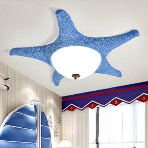 Rose Led Starfish plafonniers pour enfants Chambre d'enfant led plafonniers en verre dressing surface lumière