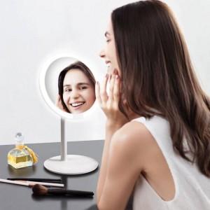Rose miroir de maquillage de bureau led lampe de bureau smart fill remplir la maison pliante portable miroir dortoir mx12261555
