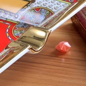 Cendrier en porcelaine en os de dieu cheval design couleur rouge contour en or forme rectangulaire cendrier cigarette cadeau cendrier