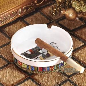 Porcelaine cendrier os dieu conception femme en or forme ronde voiture de poche cendrier mode cendrier portable cadeaux