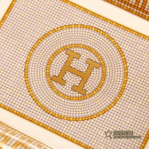 """Cendrier en porcelaine """"H"""" Mark esquisser la conception de la mosaïque en or rectanglar cendrier cigarette cendrier cadeaux d'affaires"""