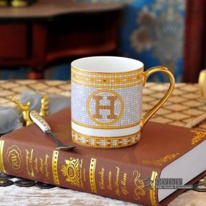 Tasse à café en porcelaine tasse à thé os le dieu chevaux conception contour en or tasse à thé en céramique tasse de café tasse de lait les bonnes tasses