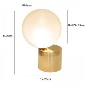 Post Modern LED Table Light G9 lampe créatif Blanc verre abat-jour lampe de table simple lumière lampes de bureau personnalité décoration