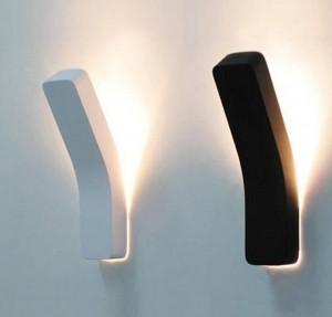 Post moderne lampe de mur de projection noir blanc simple créatif décoration de chevet lumière salon couloir mur lumière