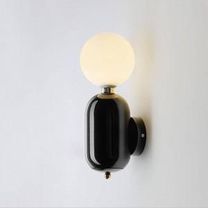Post moderne applique murale noir or blanc couleur créatif simple décoration de chevet décoration salon couloir applique murale