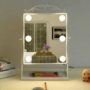 Princesse style LED miroir de maquillage avec ampoule maison bureau pansement beauté remplir lumière miroir table décoration mx12281553