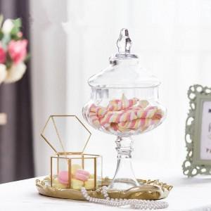 Pot de verre potiron de haute qualité Bonbons pot alimentaire avec couvercle réservoir de stockage bouteille conteneur vase fête de mariage créatif canettes ornements