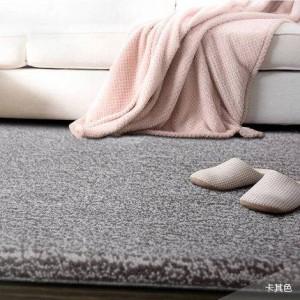 Tapis de laine de couleur pure hôtel plein tapis grand salon table basse chambre couverture de chevet personnalisé