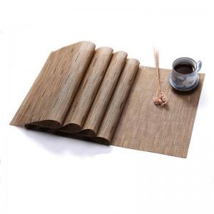 Tapis de table d'armure de bambou de couleur pure de PVC de protection de l'environnement