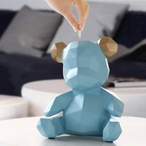 Résine Ours En Peluche Figurines Creative Tirelire Cadeau Boîte De Rangement De Mariage Argent Pour Enfants Titulaires Boîte Enfants Jouet Tirelire