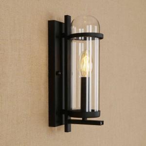 RH lampe en verre de fer créatif moderne pastorale de style rural rural luminaire pour restaurant café allée salon déco lampes murales