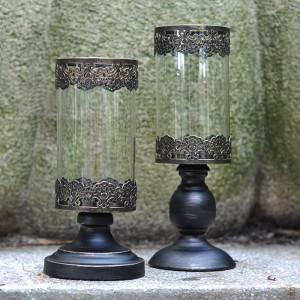 Chandelles romantique dîner chandelier nuit lumière métal fer Art / verre chandelier pot de fleur parti café décoration artisanat