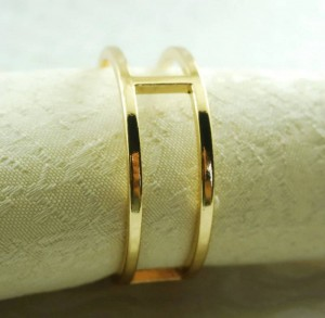rond de serviette en métal doré, porte-serviette pour mariage, 24 pcs