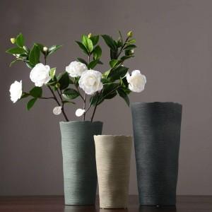 Simple vase à fleur en céramique européenne créative salon dispositif de séchage nordique décoration de la maison