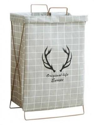 Simple ménage coton et lin vêtements panier de rangement support pliant imperméable à l'eau panier panier jouet baril vêtements blanchisserie