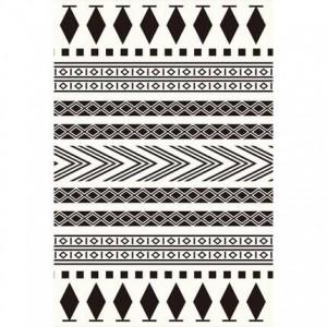Simple moderne noir et blanc tapis géométrique nordique salon table basse chambre magasin complet grande fenêtre tatami tapis personnalisé