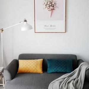 Skin-friendly Velvet Housse de coussin gaufres treillis décoratif oreillers cas voiture couvre Almofadas Cojines canapé modèle chambre Essential