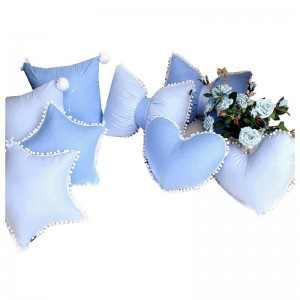 Recommandé en Spécial Coussins Almofada Bleu Bonbon 100% Coton De Luxe Prince Chambre Décor Oreillers Couronne Type Bowknot Coussin Mignon Bord