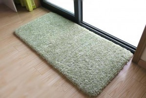 Tapis de sol tendre vert pour tapis de salle de bains chambre solide tapis antidérapant pour paillasson absorbant l'eau super doux alfombra
