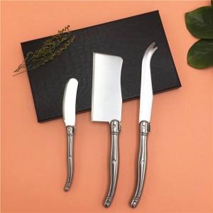 Pour rencontrer 3PCS couteau à fromage Kit Sandwich Spreader beurre couteau Set En Acier Inoxydable Laguiole Style Fromage Trancheuse Outils