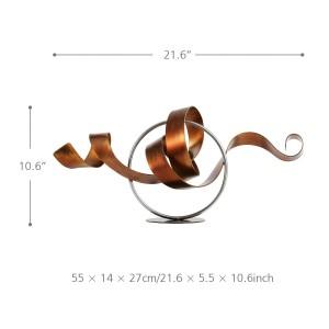 Cercle et Ruban statue moderne Sculpture Abstraite Sculpture En Métal Fer À La Maison Décor à La Maison décoration accessoires