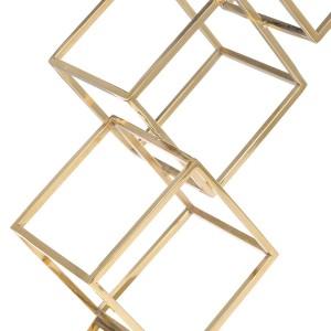 Figurine Cube Abstrait Ornement Galvanoplastie Artisanat Décor À La Maison Moderne Style pour Bureau Décoration de La Maison Accessoires