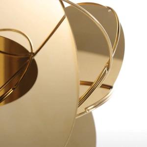 Miroir D'or Moderne Figurines Home Decor Abstrait Artisanat Ornement En Métal Sculpture Intérieur Décoration Accessoires