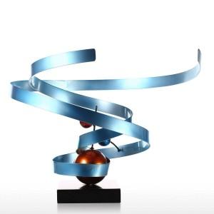 Nébuleuse Abstraite Sculpture En Fer Forgé Maison Décoration Abstraite Décoration De Bureau Contemporain Sculpture De Bureau