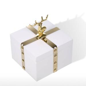 TOOARTS Carré Boîte À Bijoux Boîtier De Rangement En Bois Bague Blanche Collier Boîte De Rangement Cadeaux D'anniversaire pour Femmes Black Velvet Coffret Cadeau