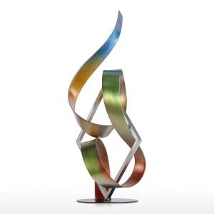 Statue Place et ruban Sculpture moderne Sculpture abstraite Sculpture en métal Intérieur-Extérieur Décoration Accessoires de maison