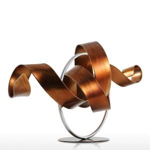 Statue Wriggle Moderne Sculpture Abstraite Sculpture En Métal Abstrait Sculpture Fer À La Maison Décoration Bureau Bureau Ornement