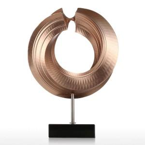 Twist Figurine Fiber De Verre Figurine Home Decor Original Design Cercle Élégant Artisanat Cadeau Pour La Maison Jardin