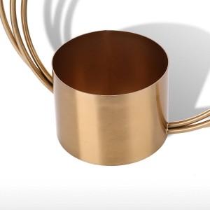 Tooast Pot De Fleur En Métal Ornement Cylindre Forme Poignée Vase À La Mode Ornement Pièce maîtresse pour la Maison De Mariage Table Décoratif