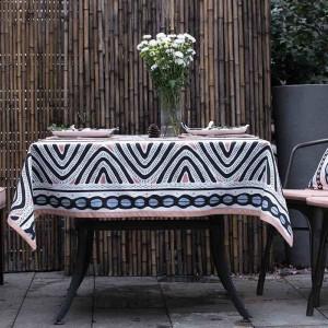 Top Nappe Pour Mariage Décor De Noël Cadeau Géométrie Créative Table En Tissu Couvre Nappe Ronde Mariage Obrusy, toalha de mesa