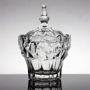 Boîte à bijoux en verre transparent sucrier Haute qualité bonbonnière assaisonnement réservoirs de stockage réservoir Crystal Bowls snack bols conteneur