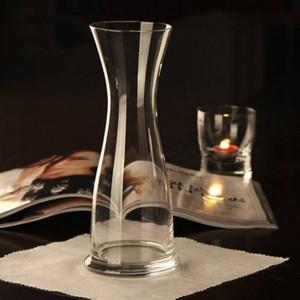 Vase en verre transparent vase luckybamboo Grand décor de mariage