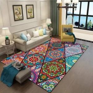 Tapis de style tapis ethnique vintage salon chambre tapis tapis art Bohème peut être lavé en machine