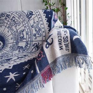 Style exotique Vintage Throw Blanket Cadeau Décoratif Cobertor Manta Para Canapé / Lits Voyage Plaid Non-slip Couvertures De Couture Gland