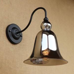 Vintage lampes murales en verre teinté éclairant la forme de corne en verre abat-jour lampes murales rétro pour chambre à coucher chevet Loft bar escalier allée